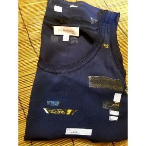 Philosophy sleeveless shirt